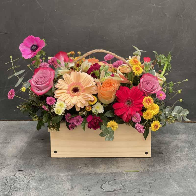 Caja Vintage de Flores